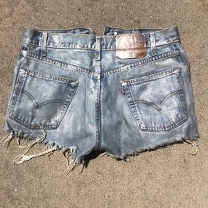 Levi's Shorts - Levi's Coated Jean Shorts